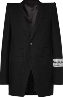 Appliquéd Virgin Wool Blazer - Black