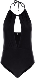 PIECES Halter-neck One-piece Swimsuit Kvinna Svart
