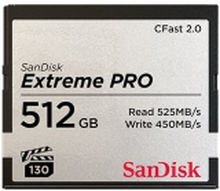 SanDisk Extreme Pro - Flashhukommelseskort - 512 GB - CFast 2.0