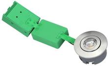 NVC Arden 40 Firkantet Innbygningsspot Utendørs 6W/927 LED, Børstet stål