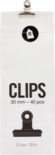 Monograph - Office Paper Clamp S 40pcs, Zinc