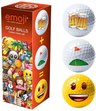 Emoji 3 Pack Fun Golf Balls - Golf / Beer / Happy