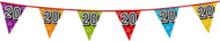 Holografische vlaggenlijn 8 m met het cijfer 20