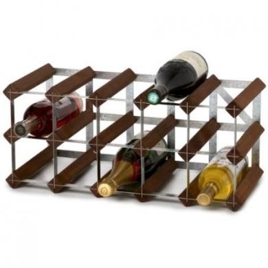 Traditional Wine Racks 15 Flaskors Påbyggnadsbart Vinställ Mörk Ek