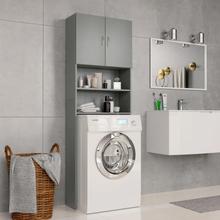 vidaXL vaskemaskineskab 64 x 25,5 x 190 cm spånplade grå
