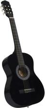 """Klassisk gitar for nybegynnere med veske 3/4 36"""" - sort"""