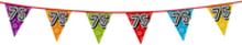 Holografische vlaggenlijn 8 m met het cijfer 75