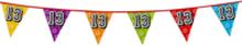 Holografische vlaggenlijn 8 m met het cijfer 13