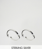ASOS Sterling Silver Pack of 2 Flat Faced Rings -
