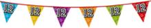 Holografische vlaggenlijn 8 m met het cijfer 12