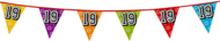 Holografische vlaggenlijn 8 m met het cijfer 19