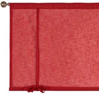 Cellbes Hissgardin röd Röd