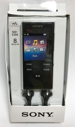 Sony NW-E394 gå MP3 spilleren med FM-Radio, 8 GB