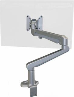 LC50 gasfjädrad monitorarm, Silver / Svart / Vit