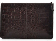 Croco Embossed Clutch