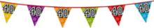 Holografische vlaggenlijn 8 m met het cijfer 40