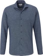 Jerseyskjorta cutaway-krage från Bugatti blå