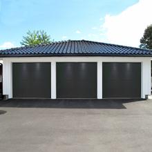 Garageport med motor - 2400x2125mm | Antracitgrå