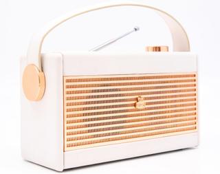 GPO Darcy Vintage Style Radio - Hvid og Guld