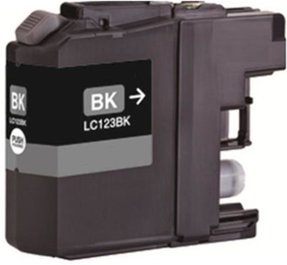 Brother LC 123BK, Sort kompatibel blækpatron, 15ml