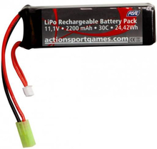 ASG Batteri LIPO - 11.1V 2200 mAh 30C - Tamyia