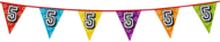 Holografische vlaggenlijn 8 m met het cijfer 5