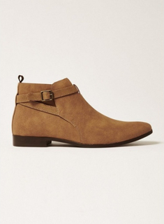 SELECTED HOMME Brown Suede Baxter Chelsea Boots