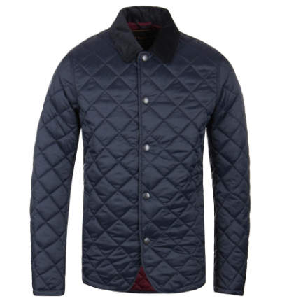 """Barbour Drill marinen Classic Quilted jakke LARGE (40"""" CHEST)"""