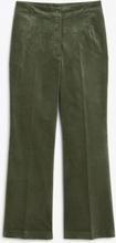 Cropped velvet trousers - Green