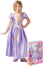 Rapunzels klänning och fläta - Gåvobox från Trassel för barn