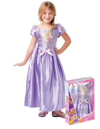 Klänning med paljetter från Rapunzel - Maskeradkläder för barn