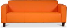 Bellus 3-sits soffa Orange - Orange PU