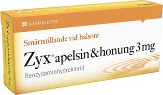 Zyx Apelsin & Honung Sugtablett 20st