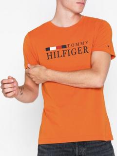 Tommy Hilfiger Rwb Tommy Hilfiger Tee T-skjorter og singleter Pumpkin