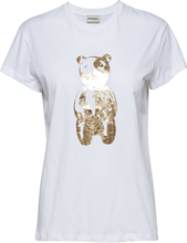 Chary T-shirts & Tops Short-sleeved Hvit BY MALENE BIRGER