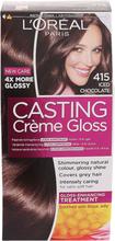 Köp L'Oréal Paris Casting Crème Gloss 415 Djup Kastanj, Iced Chocolate L'Oréal Paris Färg fraktfritt