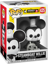 Mickey Mouse - Mickey's 90th Anniversary - Steamboat Willie Vinylfigur 425 -Funko Pop! - multicolor