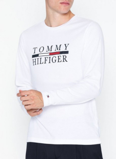 Tommy Hilfiger Tommy Hilfiger Long Sleeve Tee Gensere Bright White