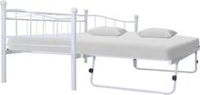 vidaXL Sängram vit stål 180x200/90x200 cm