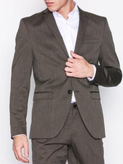 Selected Homme Slhslim-Mylologan Brown Blazer B Blazere & dresser Mørk brun