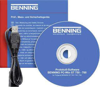 Software Benning Software BENNING PC-WIN ST 750-760 PC-software BENNING PC-Win ST 750-760, 047002