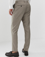 French Connection slim fit plain suit trousers-Brown