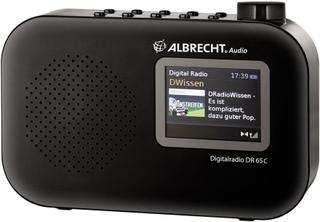 FM Bärbar radio Albrecht DR 65 C DAB+, FM Svart