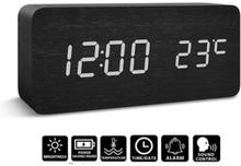 Digitaalinen LED-herätyskello - musta