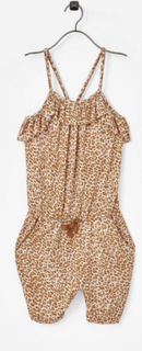Jumpsuit Rio Frill Gold Leopard