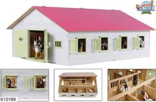 Kids Globe Häststabil 7 Boxes - Gårdsgård och djur 610189