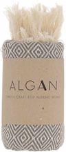 ALGAN Elmas gæstehåndklæde grå - 65x100 cm