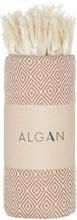 ALGAN Elmas hamamhåndklæde brun - 100x180 cm