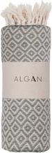 ALGAN Sumak hamamhåndklæde - grå diamant mønster