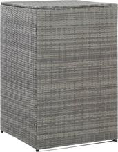 vidaXL Skjul för soptunna antracit 76x78x120 cm konstrotting